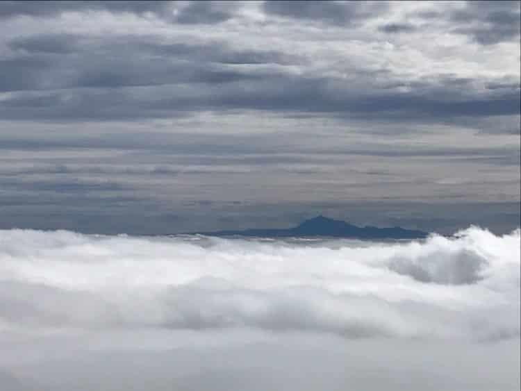 Blick auf den Teide Über den Wolken des Roque Niquiomo