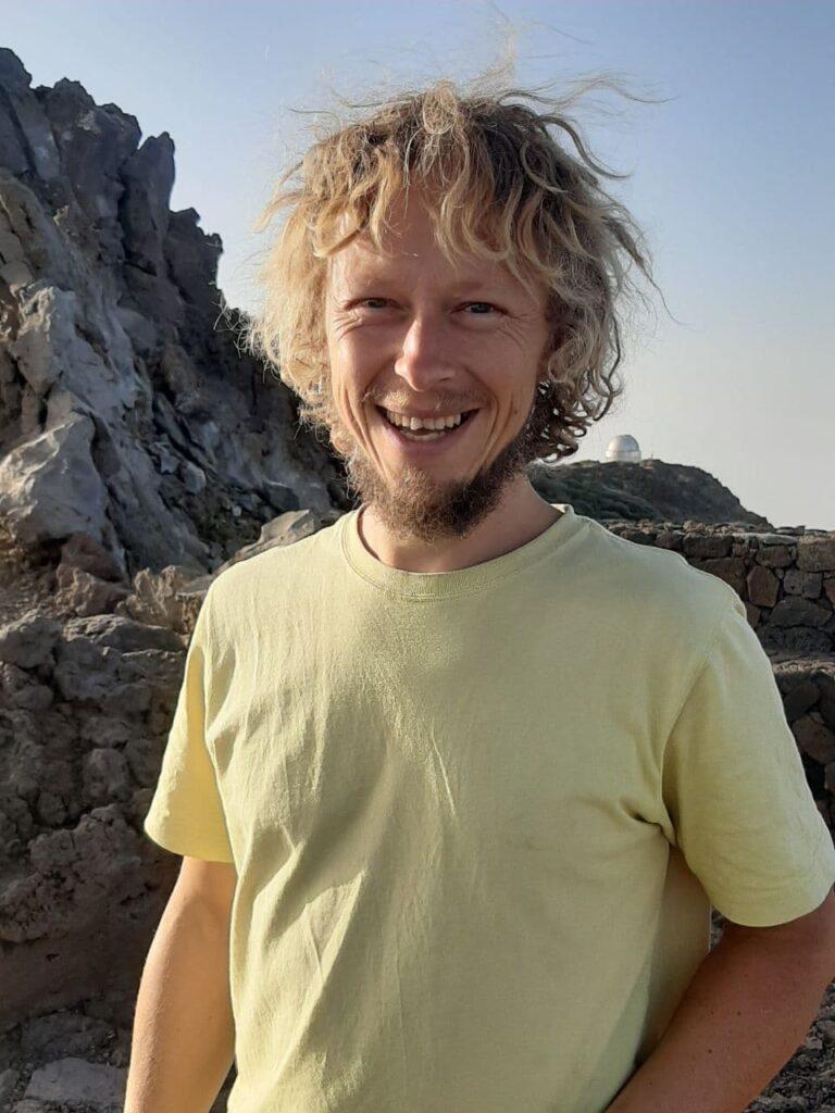 Holger Markgraf auf dem Roque de los Muchachos